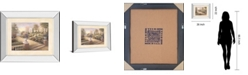 """Classy Art Patio View by Vivian Flasch Mirror Framed Print Wall Art - 22"""" x 26"""""""