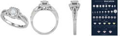 Macy's Diamond Halo Openwork Engagement Ring (5/8 ct. t.w.) in 14k White Gold