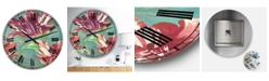 "Designart Vintage-Inspired Tulips in Paris Oversized Cottage Wall Clock - 36"" x 28"" x 1"""