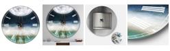 "Designart Reach For the Moon Oversized Modern Wall Clock - 36"" x 28"" x 1"""