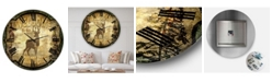 """Designart Welcome Lodge Deer Large Cottage Wall Clock - 36"""" x 28"""" x 1"""""""