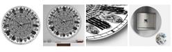 "Designart Mandala Drawing Large Traditional Wall Clock - 23"" x 23"" x 1"""