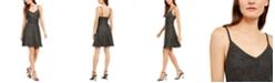 Monteau Petite Fit & Flare Shine Dress