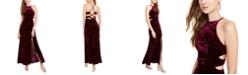 Morgan & Company Juniors' Cutout Crushed Velvet Gown