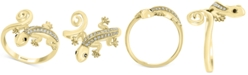 EFFY Collection EFFY® Diamond Lizard Statement Ring (1/8 ct. t.w.) in 14k Gold