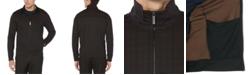 Perry Ellis Men's Plaid Zip Sweater