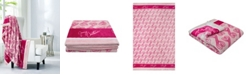 """Juicy Couture Geo Hearts 50"""" x 70"""" Plush Throw"""