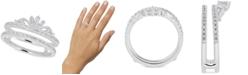 Macy's Diamond Double Band Tiara Ring (1/2 ct. t.w.) in 14k White Gold