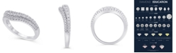 Macy's Certified Diamond (5/8 ct. t.w.) Contour Band in 14K White Gold