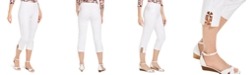 JM Collection Tortoise-Look Ring Tummy-Control Capri Pants, Created for Macy's
