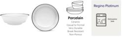 Noritake Regina Platinum Large Round Vegetable (Salad Bowl), 40 Oz.
