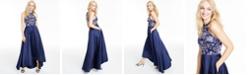 Speechless Juniors' Glitter Halter High-Low Dress
