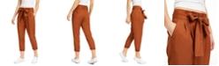 Indigo Rein Juniors' High-Rise Paperbag Pants
