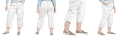 Style & Co Plus Size Cotton Bungee Cargo Capri Pants, Created for Macy's