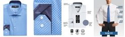 Society of Threads Men's Slim-Fit No-Iron Stretch Geo Print Dress Shirt