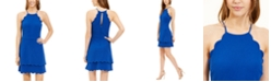 B Darlin Juniors' Scallop-Trim A-Line Dress