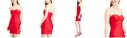 City Studios Juniors' Strapless Gathered Dress
