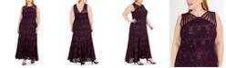 R & M Richards Plus Size Sequin Lace Gown