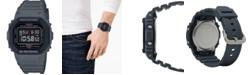 G-Shock Men's Digital Gray Resin Strap Watch 43.8mm