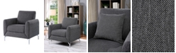 Furniture of America Wester Rounded Padded Arms Chair