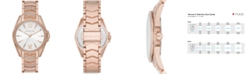 Michael Kors Whitney Three-Hand Rose Gold-Tone Stainless Steel Watch