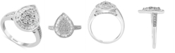EFFY Collection EFFY® Diamond Baguette Teardrop Ring (1/2 ct. t.w.) in 14k White Gold