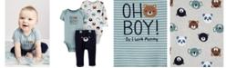 Carter's Baby Boys 3-Pc. Oh Boy! Bear Cotton Bodysuits & Pants Set