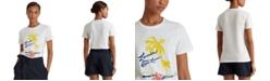 Lauren Ralph Lauren Print Cotton-Blend T-Shirt