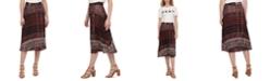 DKNY Printed Pull-On Pleated Midi Skirt