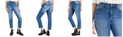 Celebrity Pink Juniors' High-Rise Raw-Hem Slim-Straight Jeans