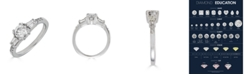 Macy's Diamond Engagement Ring (1 ct. t.w.) with Tapered Baguettes in 14K White Gold