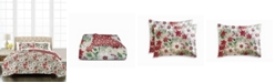 Martha Stewart Collection Floral Percale 3-Piece King Comforter Set, Created for Macy's