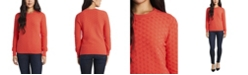 Vince Camuto Women's Long Sleeve Textured Knit Sweater