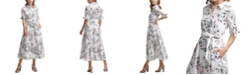 Calvin Klein Cotton Floral-Print Shirtdress