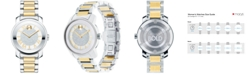 Movado Women's Swiss Bold Two-Tone Stainless Steel Bracelet Watch 32mm 3600256