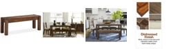 """Furniture Avondale 49"""" Dining Bench, Created for Macy's"""