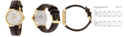Gucci Women's Swiss Automatic G Timeless Dark Brown Alligator Leather Strap Watch 38mm YA126470