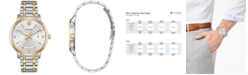Bulova Men's Dress Diamond-Accent Two-Tone Stainless Steel Bracelet Watch 40mm, Created for Macy's