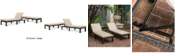 Noble House Logan Outdoor Chaise Lounge (Set Of 2)