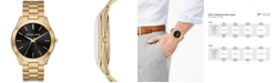 Michael Kors Men's Slim Runway Gold-Tone Stainless Steel Bracelet Watch 44mm