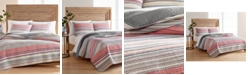 Martha Stewart Collection Rustic Yarn-Dyed Stripe Cotton King/Cal King Quilt, Created for Macy's