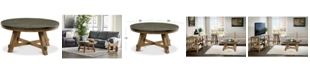 Furniture Breslin Bluestone Round Coffee Table