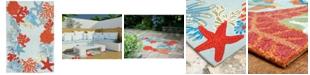"""Liora Manne' Ravella 2256 Ocean Scene Blue 5' x 7'6"""" Indoor/Outdoor Area Rug"""