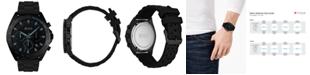 BOSS Men's Chronograph Intensity Black Rubber Strap Watch 44mm