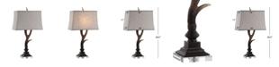 JONATHAN Y Antler Rustic Resin/Crystal LED Table Lamp