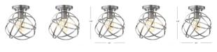JONATHAN Y Alba Metal Orb LED Flush Mount