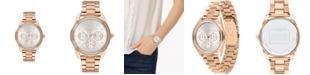 COACH Women's Preston Rose Gold-Tone Stainless Steel Bracelet Watch 36mm