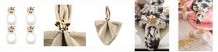 Design Imports Gold Pineapple Napkin Ring Set of 4