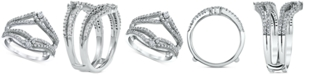 Macy's Diamond Split-Band Enhancer Ring Guard (5/8 ct. t.w.) in 14k White Gold