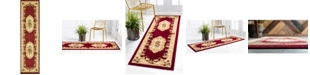 "Bridgeport Home Belvoir Blv3 Red 2' 7"" x 10' Runner Area Rug"